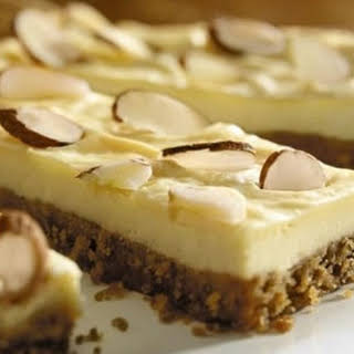 Almond Cheesecake Bars.