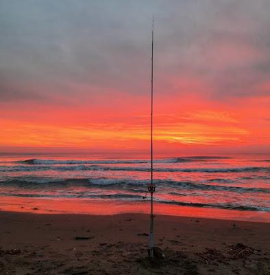 Orange sunset over the sea. di claudio_sposetti