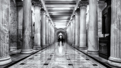 Photo: Capitol Hall of Columns  This is another area of the U.S. Capitol building that just displays beauty and grandeur in architecture. The corridor is about 100 feet long and lined with 28 columns. It also includes part of the National Statuary Hall Collection of statues donated by the states. You can see one of my favorites on the right – Father Damien (now Saint Damien since 2009) by Hawaii.  I'll say it again. If you haven't visited the U.S. Capitol, it should be on your must-see list. I could spend days taking photos in here, if only they'd let me.  Please visit the blog at http://williambeem.com