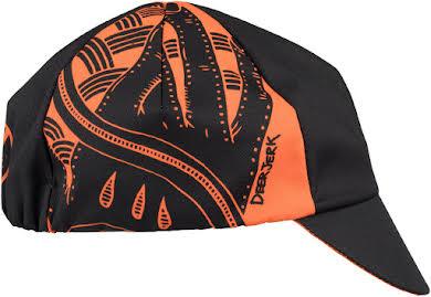 All-City DeerJerk Collaboration Cycling Cap: Orange/Black One Size alternate image 2
