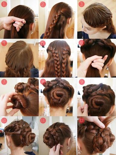 三つ編みヘアスタイル
