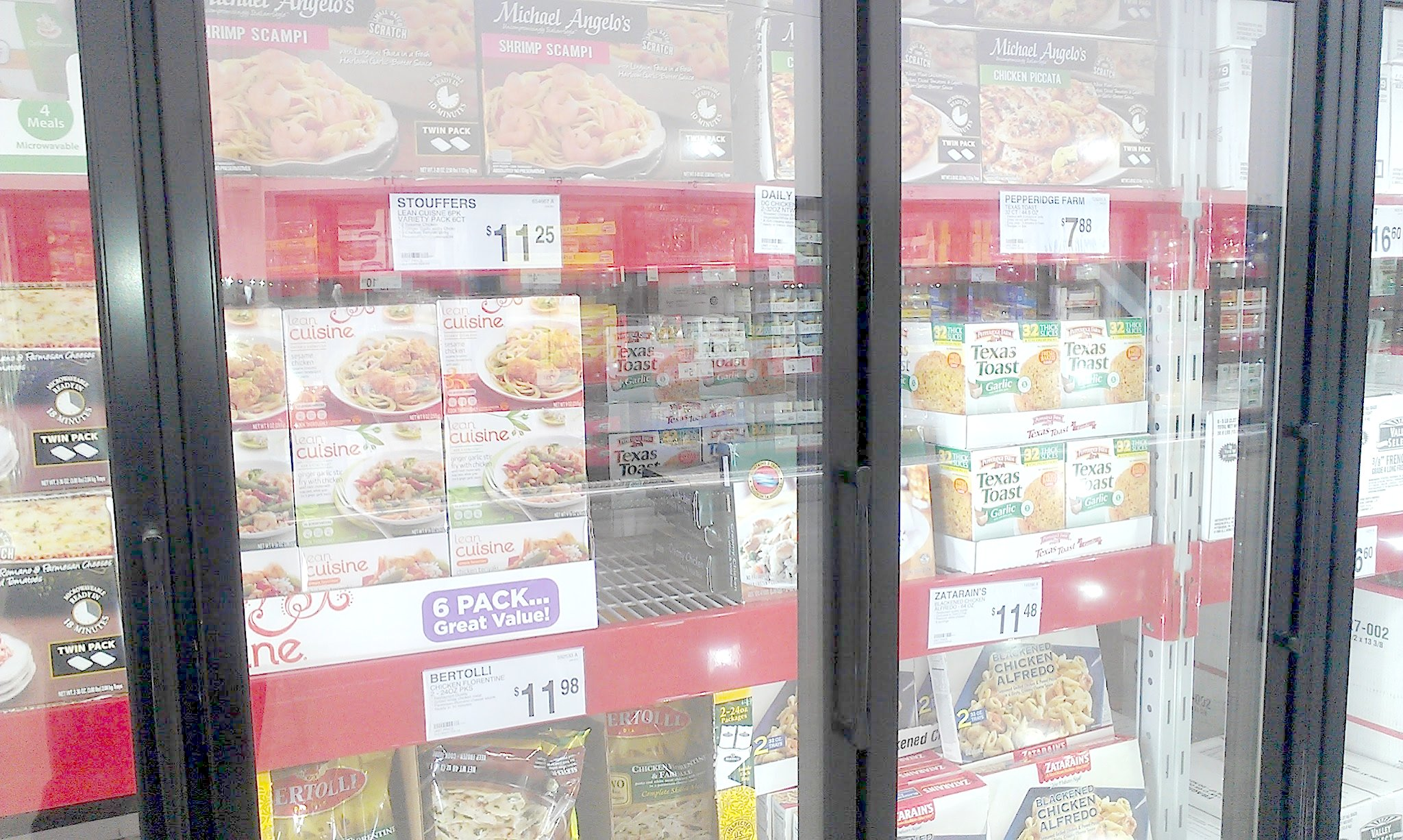 Photo: I found the Lean Cuisine on the same aisle in the frozen foods with the large family meals.