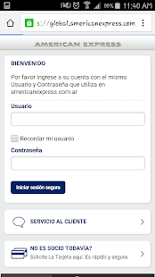 American Express Móvil- screenshot thumbnail