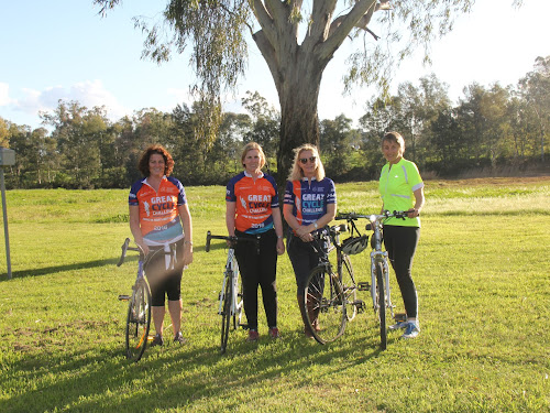 Georgina Gourley, Clare Felton-Taylor, Kate Knight and Nanette Watson make up the 'She Rides' group participating in the great cycle challenge in October.