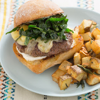 Trattoria-Style Cheeseburgers with Crispy Rosemary-Garlic Potatoes & Aioli