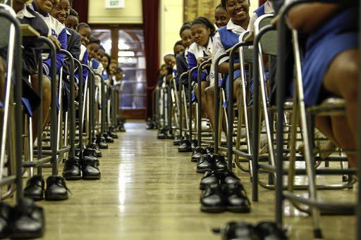 Discounts offered on annual fees at a number of schools, public and private, could be as low as under  2% and as high as 10%.  Every year when Parktown High School for Girls matriculants  finish their exams, they  leave their school shoes next to their desks. The shoes are then collected by  the  charity Saint Vincent de Paul and donated to the less fortunate.  Picture: MOELETSI MABE