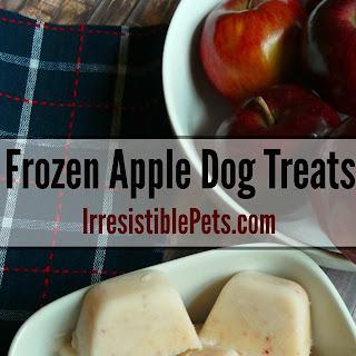 DIY Frozen Apple Dog Treat.