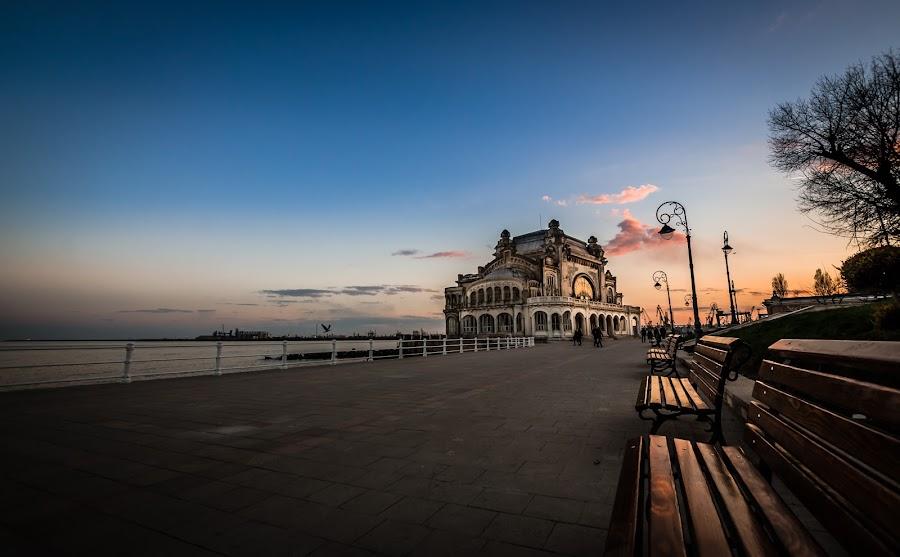 Quiet sunset... by Lupu Radu - City,  Street & Park  City Parks ( black sea, cazino, april, sunset, romania, constanta, portul tomis, , #8rtcoMagazine )