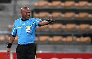 Referee Jerome Damon during the Absa Premiership match between Vasco Da Gama and Ajax Cape Town from Athlone Stadium on February 19, 2011 in Cape Town, South Africa.