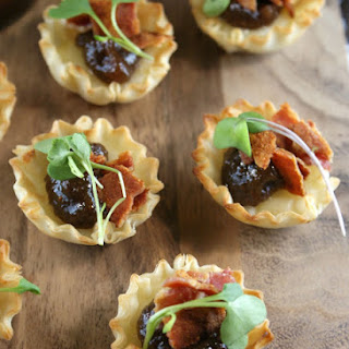 Brie, Bacon and Fig Jam Tarts