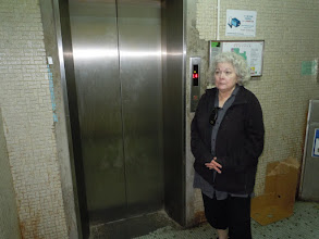 Photo: Leslie returns to the scene of the crime in the Chungking Mansions. There wasn't really a crime; it's just a place where we stayed.