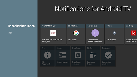 Notifications for Android TV Screenshot