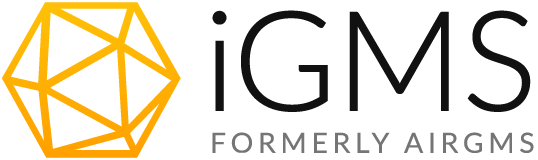 iGMS logo with formerly AirGMS