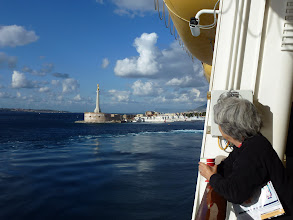 Photo: leaving Messina for one full day cruise to Crete, Greece.