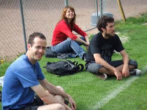 Photo: Elchanan Mossel, Julie Forman & Peter Ralph : cheerleading squad