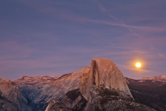 Photo: Moon Rise by Half Dome