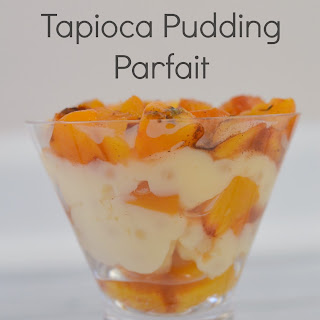 Grilled Peaches and Tapioca Pudding Parfait