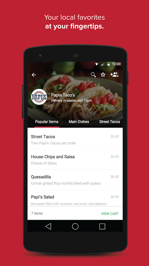 OrderUp - Your Food Delivered- screenshot