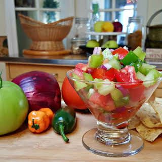 Green and Red Salsa.