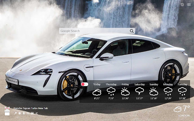 Porsche Taycan Turbo New Tab, Wallpapers HD