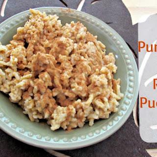 Pumpkin Pie Rice Pudding.