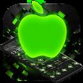 Black Neon Tech Green Apple Theme APK