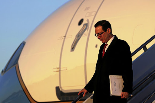 Hopeful: US Treasury Secretary Steven Mnuchin is leading the negotiations with the Chinese in Beijing. Picture: REUTERS