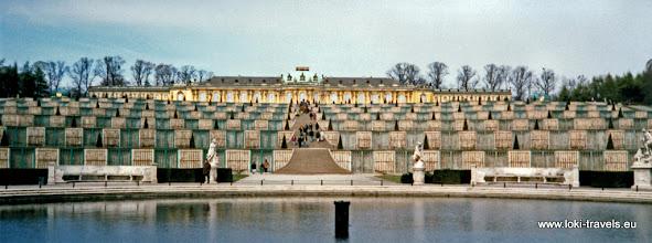 Photo: Potsdam. Sanssouci. Paleis Sanssouci.