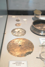 Photo: Old metal discs from excavations near Paracas. Paracas History Museum.