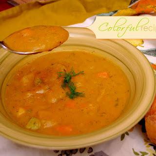 Carrot Potato Zucchini Soup.