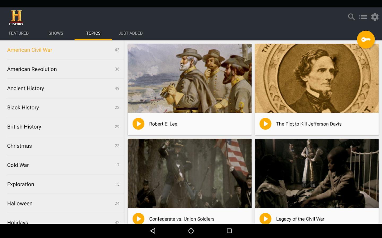 HISTORY- screenshot