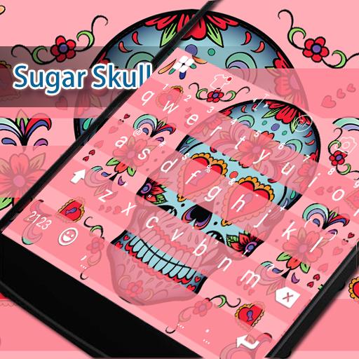 Sugar Skull Eva Keyboard -Gifs 遊戲 App LOGO-硬是要APP