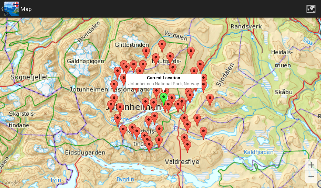 In Sight Norway Android Apps On Google Play - Norway lakes map