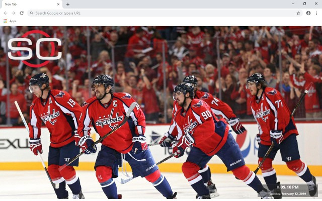 NHL Washington Capitals New Tab Theme