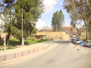 Photo: View from the bus towards Archbishop house in old Nicosia