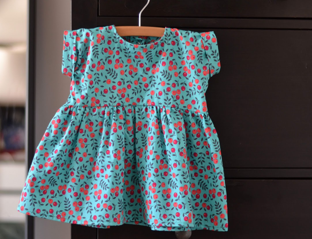 Petite Robe fleurie turquoise