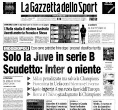 Photo: 24 giugno 2006. Nel 2010 scrivono che non volevano lo scudetto all'Inter