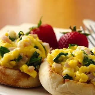 Breakfast Egg Scramble with Brie.