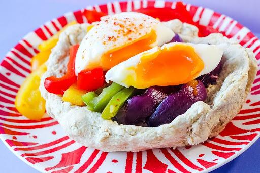 Flatbread Egg Basket