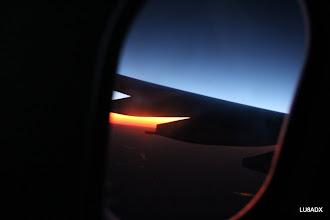 Photo: Amanecer desde el avion en el norte argentino