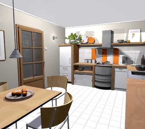 Projekt domu APS 133 (TEV 422)  132 9m² -> Kuchnia Jadalnia Salon Razem
