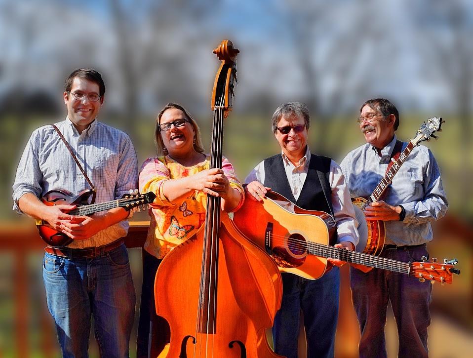 The Blue Eagle Band: Noah, Terri, Jesse, and Tom