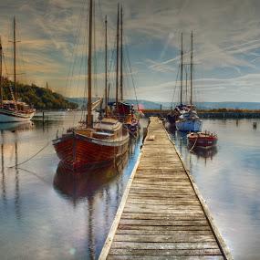 I am sailing (home again) by Mara R. Sirako - Transportation Boats ( portorose, seca, sailing, ship, sea, pier, boat,  )