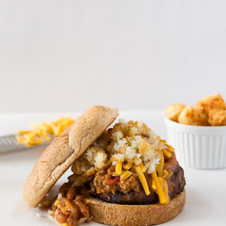 Chili Cheese Tot Burger