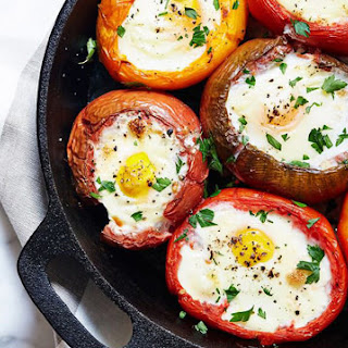 Eggs Baked In Tomatoes