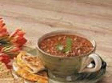 Tummy Warmer Chili Recipe