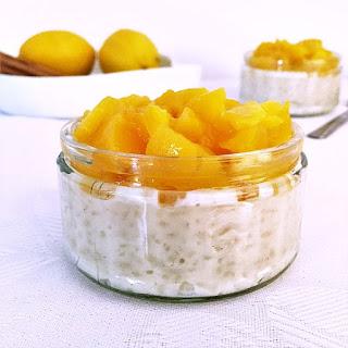Peach Rice Pudding.