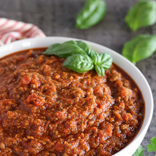 Meat Sauce with Hidden Vegetables