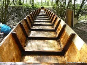 Photo: Übrigens, kein Bootslack sondern eine Lasur wird hier verwendet. Besser für Umwelt und das Holz bei bestem Ergebniss.