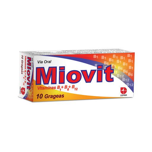 Complejo B Miovit x 10 Grageas Cofasa x 10 Grageas